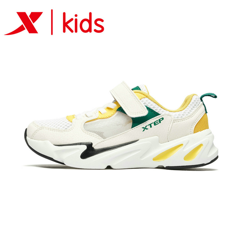 Xtep Girl Casual Sport Shoes Student Walking Shoes Children Light Weight Velcro Sneakers 681215329268