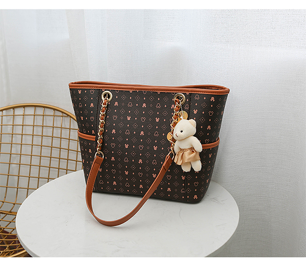 H6db21cac6916478eb0cbe0ba3ffacd02W - Cartoon Handbag PU Large Capacity Women's Shoulder Bag