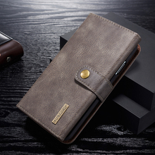 High Quality Luxury Leather Case For iPhone 11 Pro Max Flip Magnetic 2 in 1 Detachable Wallet Stand XS X XR Cover