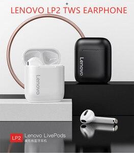 Original Lenovo LP2 TWS Wireless Earphone Bluetooth 5.0 Dual Stereo Bass Touch Control LP1 UPDATED VERSION 350MAH