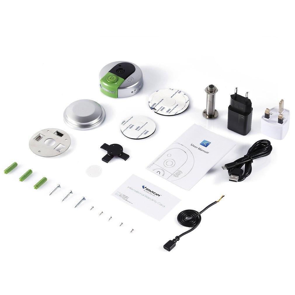 Vstarcam Wireless Door Bell HD 720P Two Way Audio Night Vision Wide Angle Video WiFi Security Doorbell Camera C95/C95-TZ