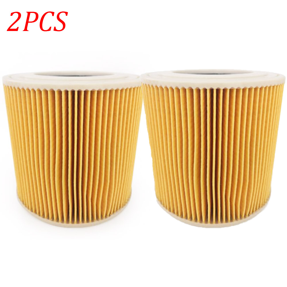 2pcs Air Dust Filters For Karcher WD2250 WD3.200 MV2 MV3 WD3 Vacuum Cleaners Parts Cartridge HEPA Filter
