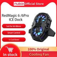 100% Original Nubia RedMagic 6 Gaming Telefon Dual Core Fan Kühler für Rot Magie 6 Pro EIS Dock