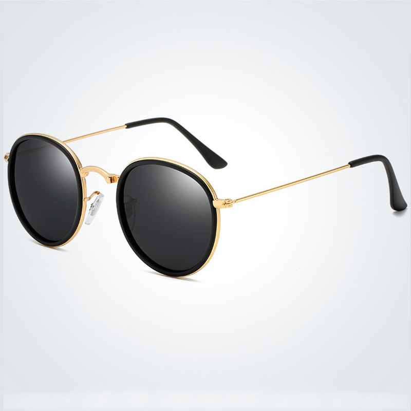 Brand Design Polarized Sunglasses Classic Metal Men Round Driving Sun Glasses Women UV400 Sunglass Shades Eyewear Oculos De Sol