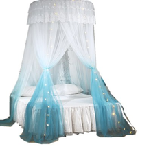Dome mosquito nets palace floor ceiling mosquito nets gradient two-color lace mosquito nets