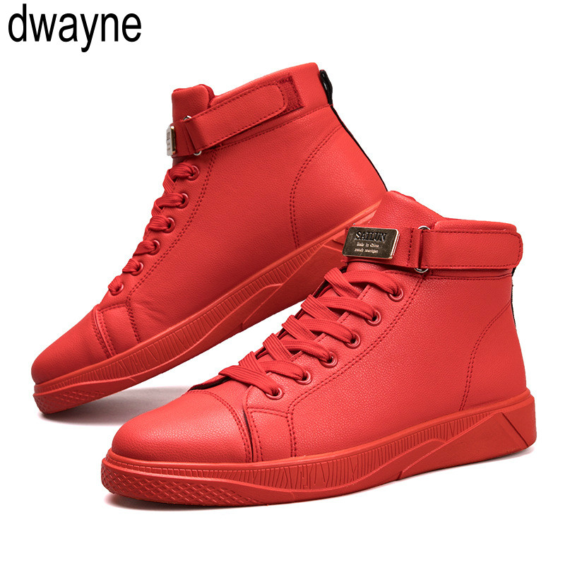 red casual shoes