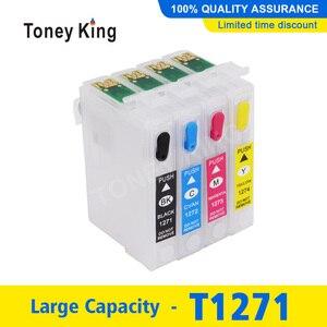 Toney King T1271 Ink Cartridge For Epson Workforce 60 545 630 633 635 645 Printer Refill Ink Cartridges(China)