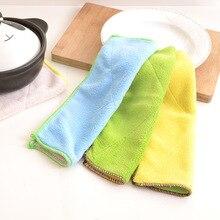 Сверхтонкое волокно, двухстороннее водопоглощающее очищающее полотенце для чистки, плотное, не линяющее масло, кухонное полотенце для посуды