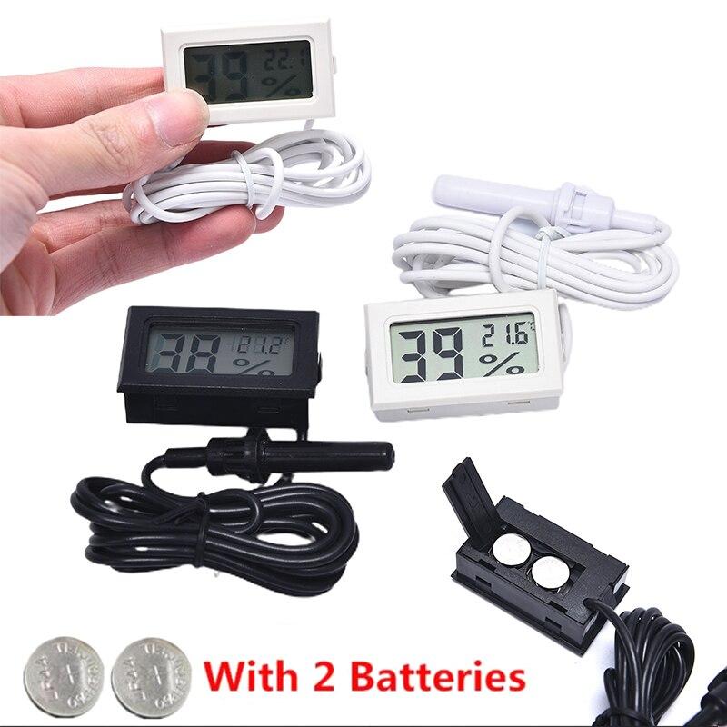 Цифровым термометром и гигрометром декоративные часы для Температура датчик влажности с датчиком для автомобиля Террариум для рептилий ак...
