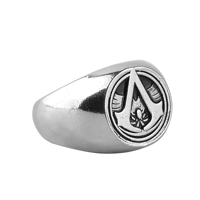 Hot Selling Europe And America Game Related Products Assassin's Creed Ring Assassins Creed Men Retro Ring image