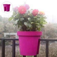 Креативный конский Балконный цветочный горшок садовые вазон для суккулентов толстый пластиковый посадочный бассейн индивидуальная Декорации для забора