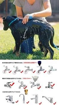 Pet shower head pet massage bath brush pet cat dog bath sprayer soft rubber massage shower head shampoo grooming brush cleaner