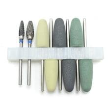 Free Shipping 8Pcs/set HP Dental Resin Base Acrylic Polishing Burs Kit Drill Polisher Rotary Dentista Tool Dental Lab Instrument