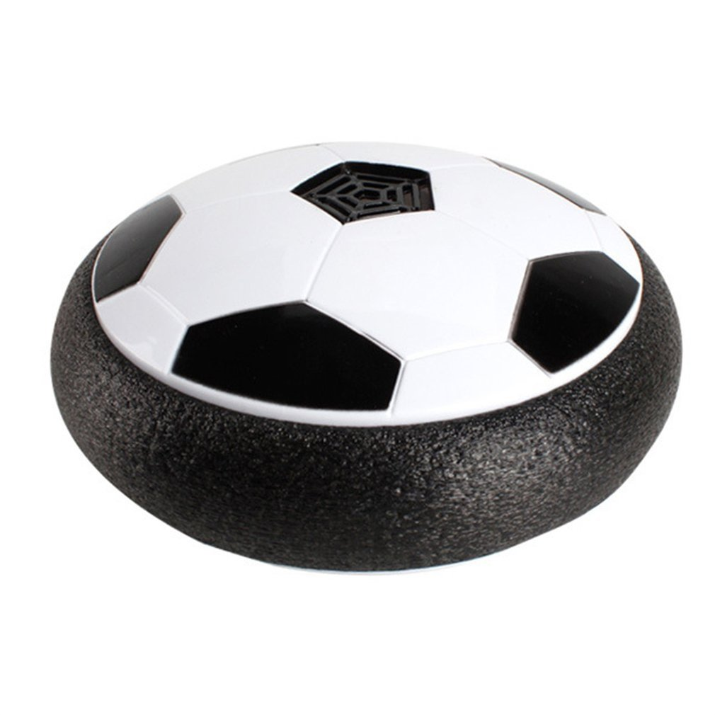 18CM LED Air Hover Football Light Up Football Night Light Flashing Soccer Toys With Music Boy Gift Game White Black