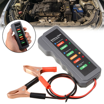 Mayitr 1pc Portable 12V Car Universal Battery Load Tester Digital Analyzer 6LED Indicator Light 4V-12V image