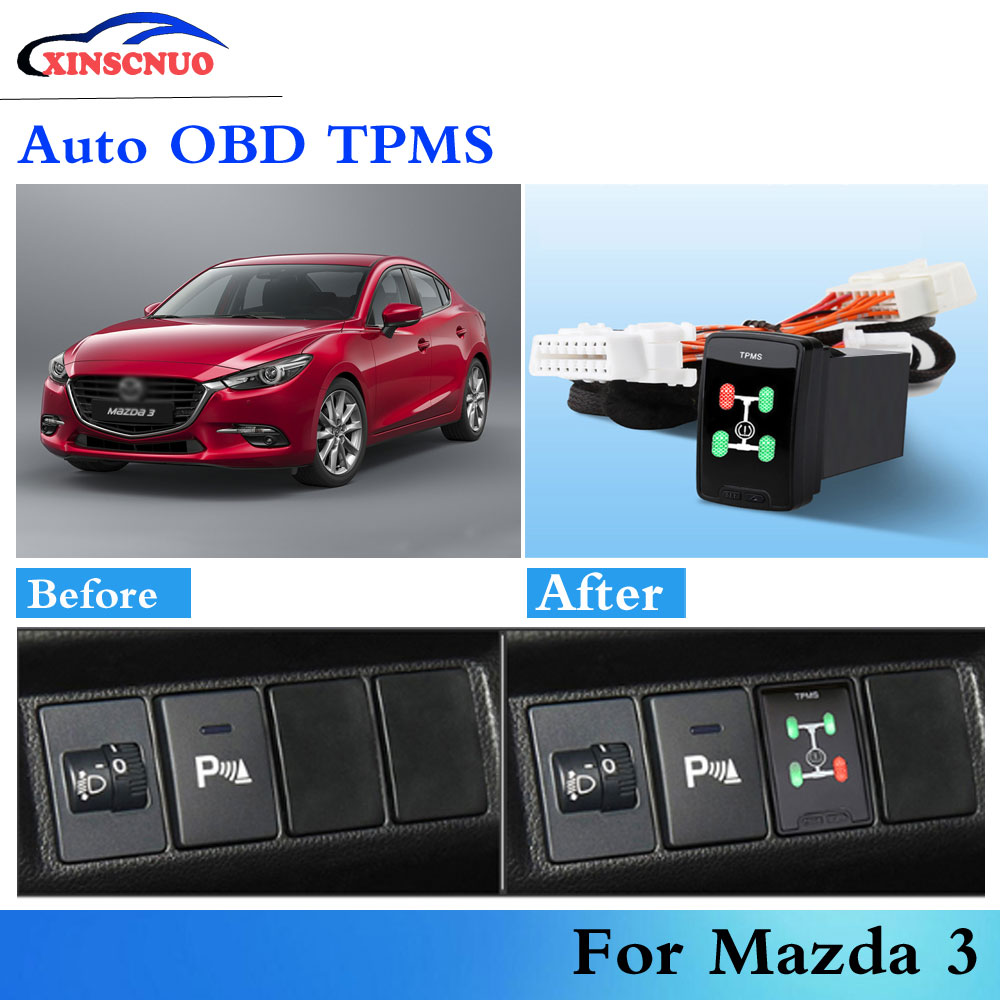 Car OBD TPMS Tire pressure sensor For Mazda 3 Mazda3 2012-2019 auto security alarm system car modification