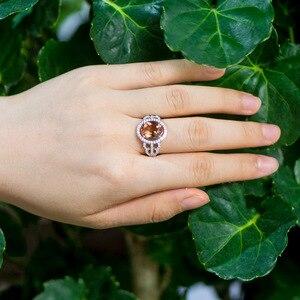 Image 5 - Kuololit Zultanite Edelsteen Ringen Voor Vrouwen Solid 925 Sterling Zilver Kleur Veranderen Diaspore Handgemaakte Bruid Geschenken Fijne Sieraden