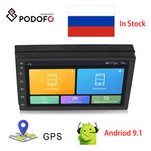 Podofo Android 2din Mobil Radio Stereo Gps Navigasi Bluetooth WIFI 7 ''Cermin Link Stereo Mobil Multimedia Player Mendukung Kamera(China)