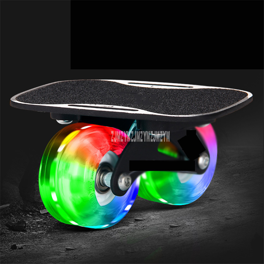 Small Mini Drift Board Two PU Wheel Aluminum Alloy Split Skateboard PU Wheel For Roller Road Drift Skate Board Skates Sport