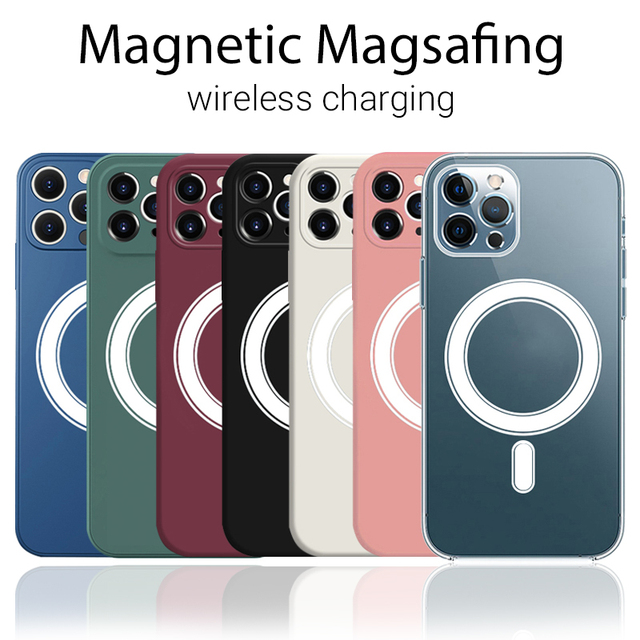 Clear Magsafing Magnetic Case For iPhone 12 Pro Max 11 Case Magsafing Wireless Charger Protective Cover For iPhone12 House Shell 2