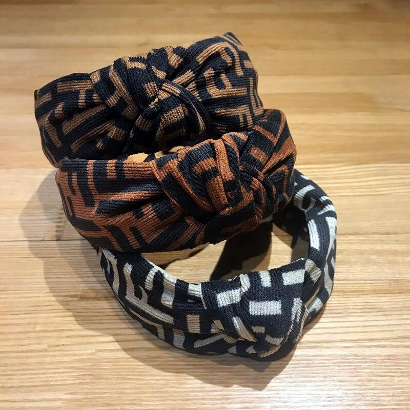 New Plaid Headband Women Leopard Hairband Cross Tie Sweet Girl Fashion Elegant Simple Bow Hair Band Accessories Hair Ornament