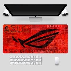 Image 5 - Fashion 90x40cm Large ASUS Gaming Mousepad  Republic Of Gamers Keyboard Pad  Locking Edge Rubber Laptop Notebook Desk Mat