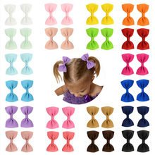 Baby solid color paired hairpin candy charming hair clip children baby daily pins accessories
