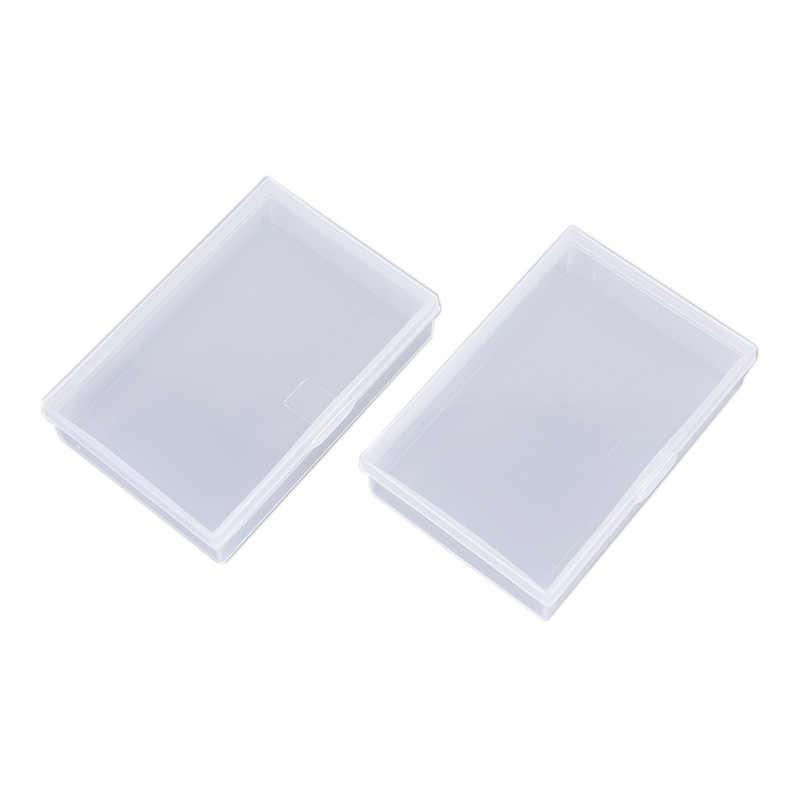 2 Stuks Transparante Plastic Dozen Speelkaarten Container Pp Storage Case Verpakking Poker Game Card Box Voor Poken Set Board games