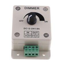 DC12V 8A ручки диммер СВЕТОДИОДНЫЙ световой Переключатель PWM регулятор мощности света для яхты RV автомобильных огней