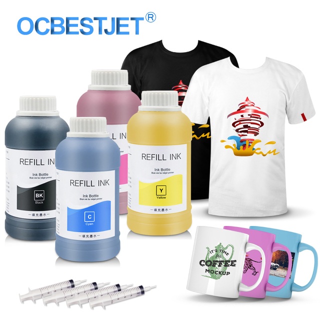 4 x 250ml Universal Sublimation Ink For Epson Printers Heat Transfer Ink Heat Press Sublimation Ink Used For Mug Cup/T Shirt