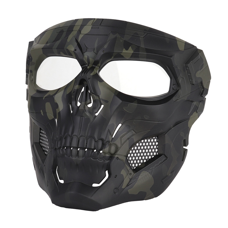 Tactical Paintball Skull Masks Outdoor Breathable Hunting Shooting Skull Mask Military Full Face Safety Paintball Masks