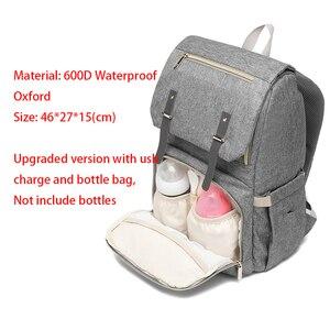 Image 5 - חיתול תיק תרמיל אמא 2020 USB יולדות תינוק טיפול חיתול סיעוד שקיות אופנה נסיעות חיתול תרמיל עבור עגלת ערכת