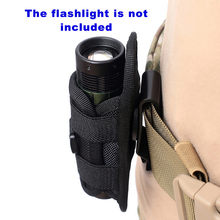 Tactical latarka zewnętrzna pokrowiec obrotowy 360 stopni sporty łowieckie LED oświetlenie klip latarka trwała nylonowa kabura pas # YL5