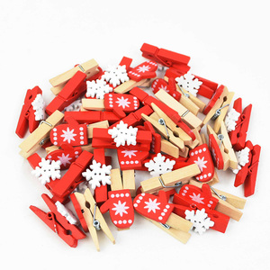 10pcs Christmas Wooden Clips New Year Party Decoration Photo Wall Clip DIY Christmas Ornaments Decorations for Home Kids Gift