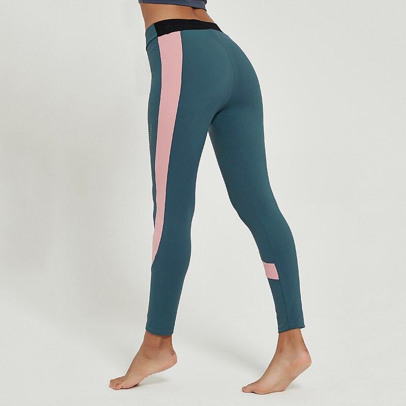 Cardism Women's Yoga Sport Pants  High Waist Gym Sports Leggings For Women Sportswear Sexy Ankel-Length Splicing Woman Pants 4