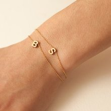 304 stainless steel 26 letter bracelet dainty initial letter bracelet necklace jewelry gift FCB0051(China)