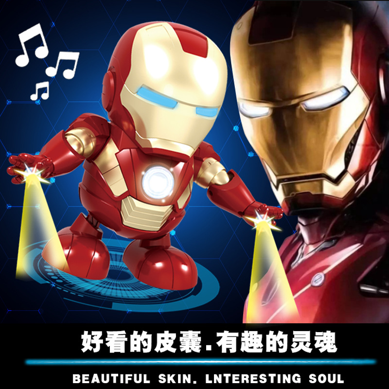 Douyin Celebrity Style Electric Cartoon Scooter Dancing Robot Children Stunt Music Lights