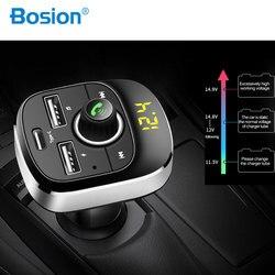 רכב MP3 נגן Bluetooth FM משדר דיבורית לרכב אודיו MP3 מודולטור 1.1 אינץ תצוגת 3.1A USB רכב מטען