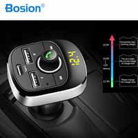 Reproductor de MP3 para coche transmisor FM con Bluetooth Kit de manos libres modulador de Audio MP3 Pantalla de 1,1 pulgadas cargador de coche USB 3.1A