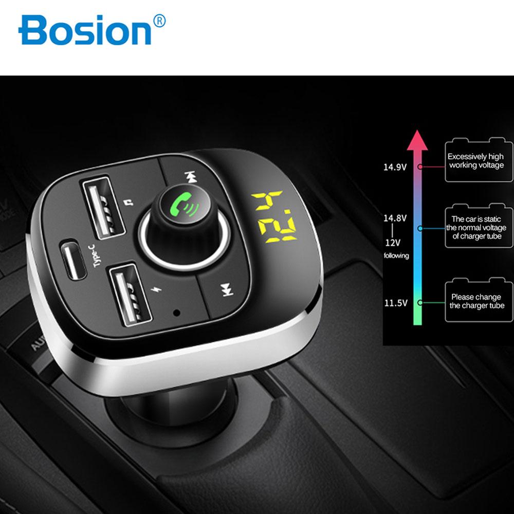Voiture lecteur MP3 Bluetooth FM transmetteur mains libres voiture Kit Audio modulateur MP3 1.1 pouces affichage 3.1A USB chargeur de voiture