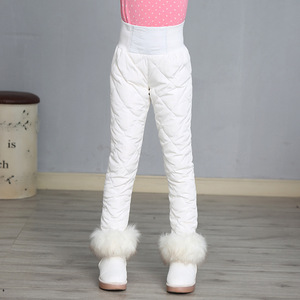 Image 1 - Girl Pants Winter 90% Down Thick Warm Ski Pants Girls Trousers Leggings Elastic High Waisted Kid Pant 3 16 Years