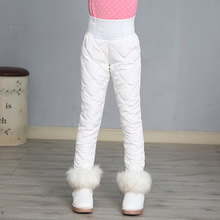 Mädchen Hosen Winter 90% Unten Dicke Warme Ski Hosen Mädchen Hosen Leggings Elastische Hohe Taille Hose Kind 3 16 jahre