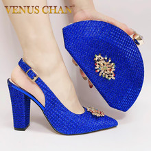 Bags Decorated Wedding-Shoes-Set Match-Shoes Nigerian Women Rhinestone And Party