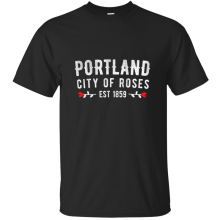Customized Humor portland city of roses 1859 oregon pdx tshirt 2019 Pictures summer men's t shirt humorous 100% cotton(China)
