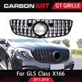 GLS GT Grill Vertikale Stil Für mb GLS Klasse X166 SUV Auto Kühlergrill 2016-2018 GLS350 GLS400 GLS500 GLS63 grille