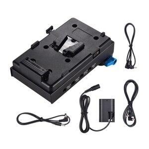 Adaptador da bateria do manequim da braçadeira LP E6 da haste do furo duplo de 15mm para bmcc bmpcc canon 5d2/5d3/5d4/|Adaptadores AC/DC| |  -