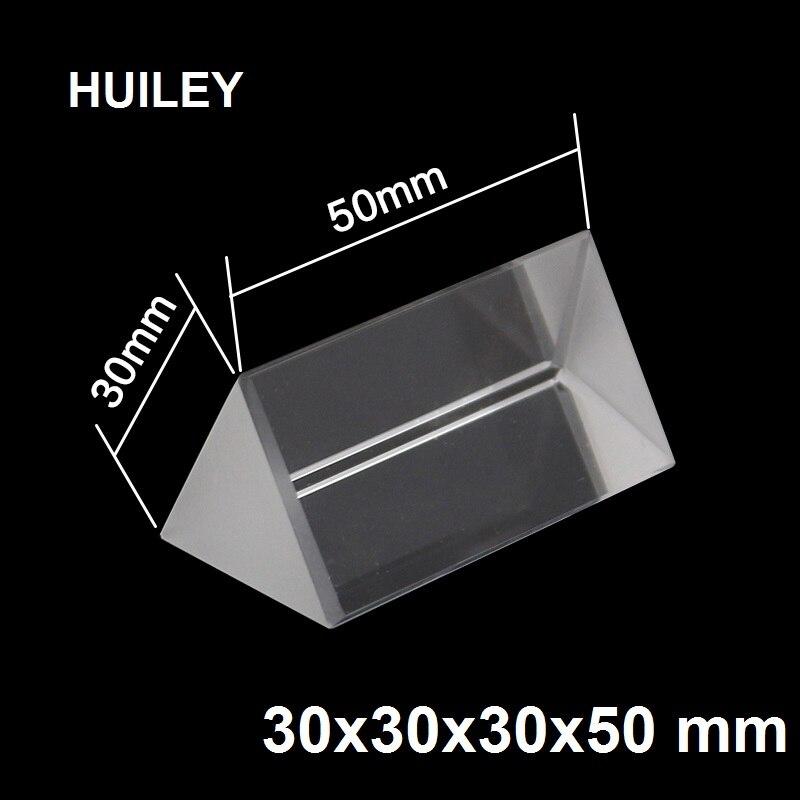 Vidro Óptico Triplo Triangular Prisma Refractor Física Luz Spectrum Educacionais de Ensino Ensino 30x30x50mm Estudante Crianças