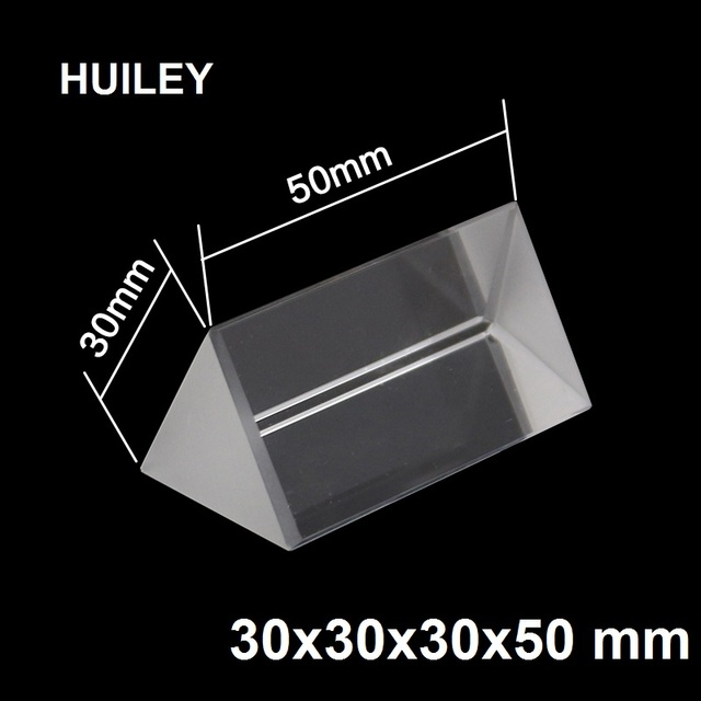 15cm Optical Glass Triple Triangular Prism Refractor Physics Experiment Alextry 5//10