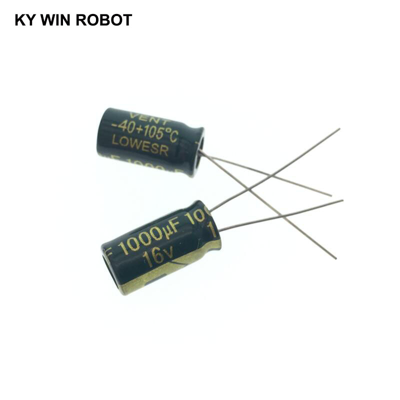 10pcs 16V 1000UF 8*16 High Frequency Low Impedance Aluminum Electrolytic Capacitor1000uf 16v
