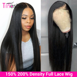 Tinshe Hair Full Lace Human Hair Wigs 150 200 Density Glueless Full Lace Wig Pre Plucked Brazilian Straight Human Hair Wigs